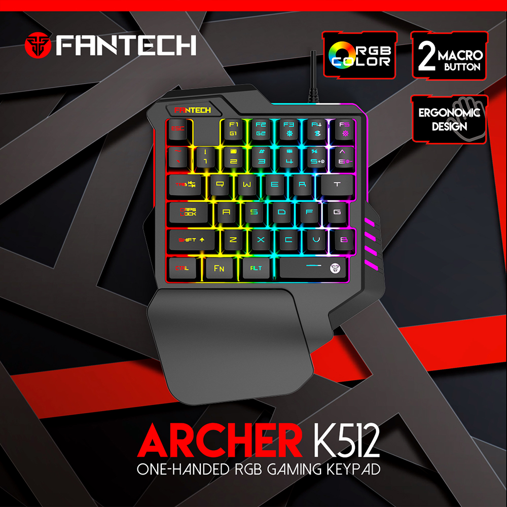 FANTECH ARCHER K512 One-Handed RGB Gamming Keypad