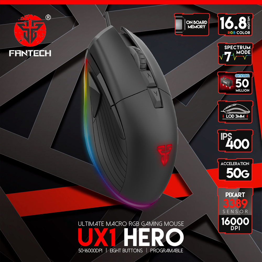 FANTECH UX1 HERO THE ULTIMATE MOUSE MACRO GAMING